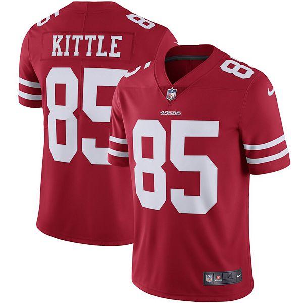 Men's Nike George Kittle Scarlet San Francisco 49ers Vapor Limited Jersey