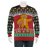 Men's Gingerbread Man Oh Snap Christmas Sweater