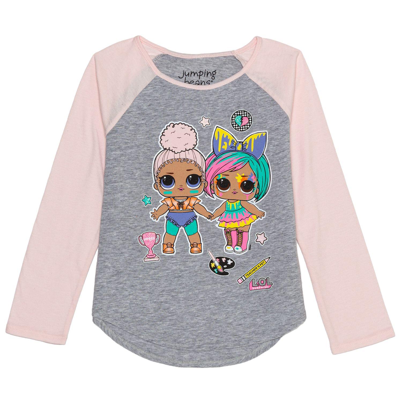 M/&Co Girls LOL Surprise Flip Sequin Tie Front T-Shirt