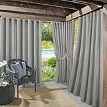 Sun Zero Sailor Indoor/Outdoor UV Protectant Grommet Window Curtain