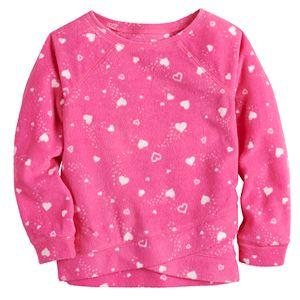 Toddler Girl Jumping Beans® Crossover Fleece Top