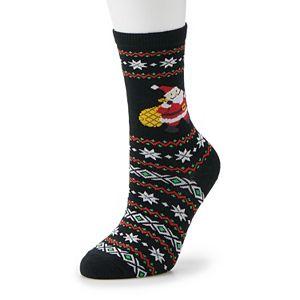 Women's Meowy Christmas Fuzzy Socks