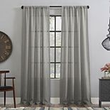 Clean Window Basketweave Anti-Dust Semi-Sheer 1-panel Window Curtain