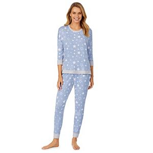 Women's Cuddl Duds® Knit 3/4 Sleeve Pajama Top & Banded Bottom Pajama Pants