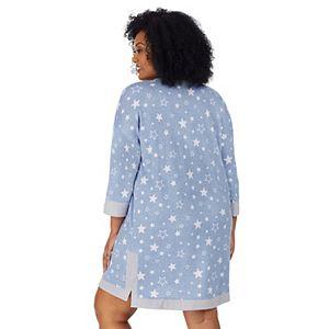 Plus Size Cuddl Duds® Knit 3/4 Sleeve Sleepshirt