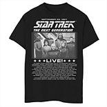 Boys 8-20 Star Trek The Next Generation Group Shot Live Poster Graphic Tee