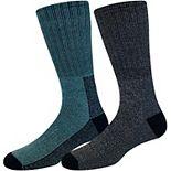 Men's Croft & Barrow® 2-pack Midweight Thermal Crew Boot Socks