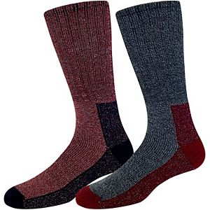 Men's Croft & Barrow® 2-pack Midweight Thermal Crew Boot Socks