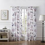 Barefoot Bungalow 2-pack Garden Joy Window Curtain Set
