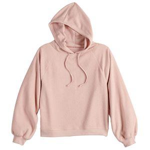 Juniors' SO® Cozy Reverse Fleece Hoodie