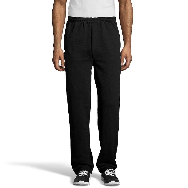 Men's Hanes EcoSmart Fleece Sweatpants. Size: Small. Black