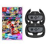 Nintendo Switch Mario Kart 8 & 2 Wheels Game Bundle