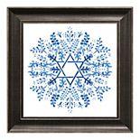 "Timeless Frames 12"" x 12"" Indigo Hanukkah I Framed Art"