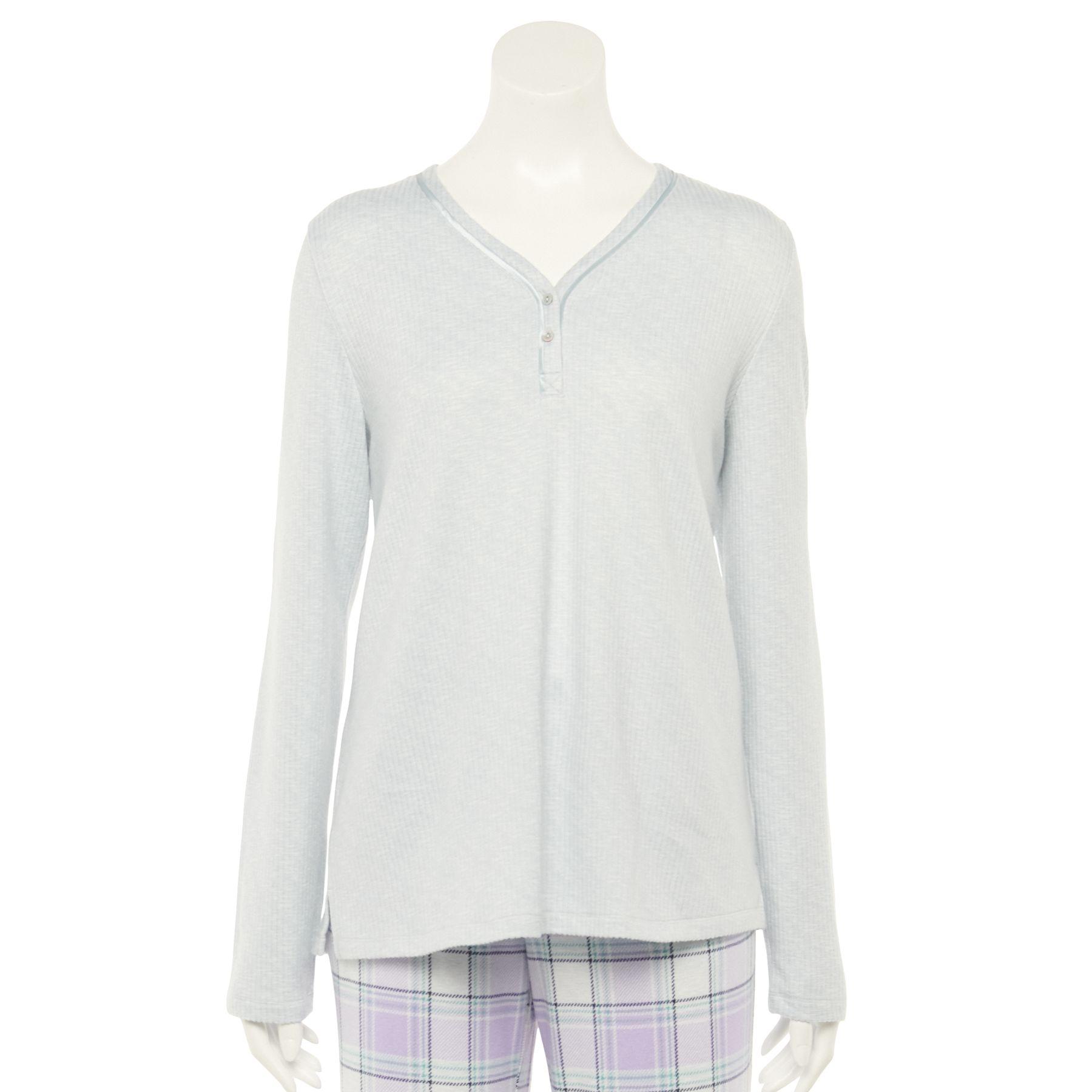 Women's Croft & Barrow® Whisperluxe Henley Pajama Top