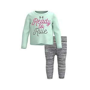 "Baby Girl Under Armour ""Ready To Rule"" Tee & Leggings Set"