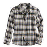 Boys 4-12 Sonoma Goods For Life® Long Sleeve Flannel Shirt in Regular, Slim & Husky
