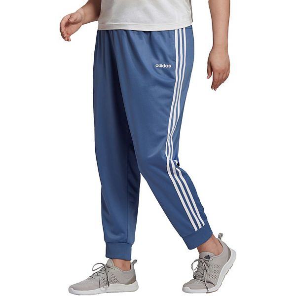 Plus Size adidas 3 Stripe Tricot Track Pants