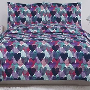 Beatrice Home Fashions Hearts Comforter Set