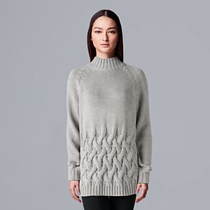 Women's Simply Vera Vera Wang Cable Sweater