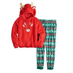 Girls 4-14 & Plus Size SO® Hooded Sherpa Sleep Set