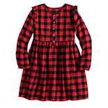 Girls 4-12 Jumping Beans® Ruffle-Sleeve Dress