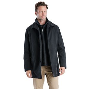 Men's TOWER by London Fog Microtwill Bonded All-Weather Bibbed Car Coat