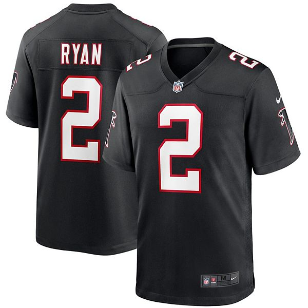 Men's Nike Matt Ryan Black Atlanta Falcons Throwback Game Jersey