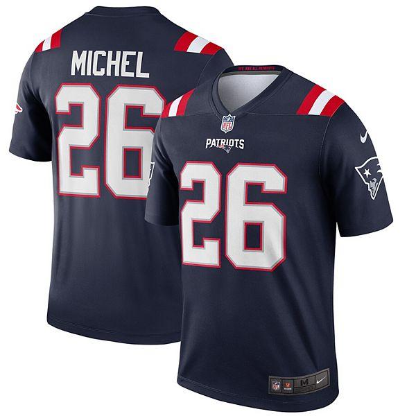 Men's Nike Sony Michel Navy New England Patriots Legend Jersey