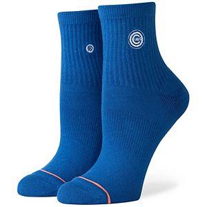 Women's Stance Chicago Cubs Lowrider Logo Quarter-Length Socks