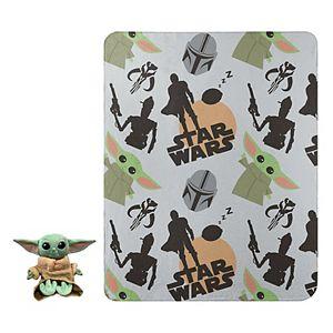 Disney's Star Wars The Mandalorian Space Hero Hugger Pillow & Fleece Throw Set
