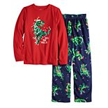 Jammies For Your Families® Boys 4-20 Dinosaur Top & Bottoms Pajama Set