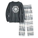 Boy's 4-20 Jammies For Your Families® Peace and Joy Microfleece Top & Pants Pajama Set