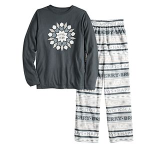 Men's Jammies for Your Families® Peace and Joy Microfleece One-Piece Pajamas