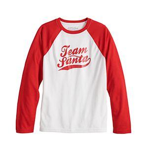 Jammies For Your Families® Kids 4-20 Team Santa Pajama Top