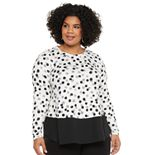 Plus Size EVRI? Layered-Look Long-Sleeve Top