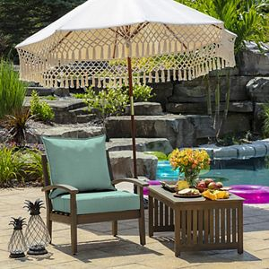 Arden Selections Texture 2-pack Outdoor Deep Seat Cushion Set
