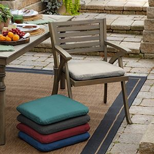 Arden Selections Canvas 2-pack Outdoor Seat Pad Set