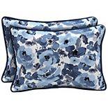 Arden Selections 2-pack Outdoor Lumbar Pillow Set