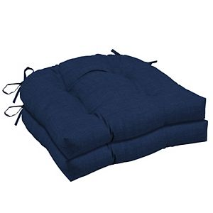 Arden Selections 2-pack Outdoor Wicker Seat Cushion Set