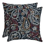 Arden Selections Woven 2-pack Outdoor Throw Pillow Set