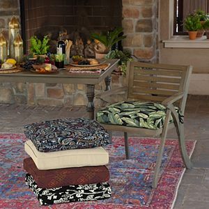 Arden Selections Welted 2-pack Outdoor Dining Seat Cushion Set