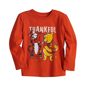 """Disney's Winnie the Pooh & Tigger Toddler Boy """"Thankful"""" Graphic Tee by Jumping Beans®"""