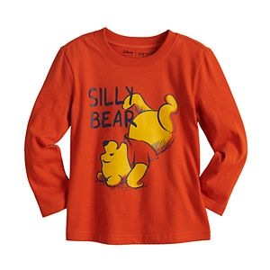 """Disney's Winnie the Pooh Toddler Boy """"Silly Bear"""" Long Sleeve Graphic Tee by Jumping Beans®"""