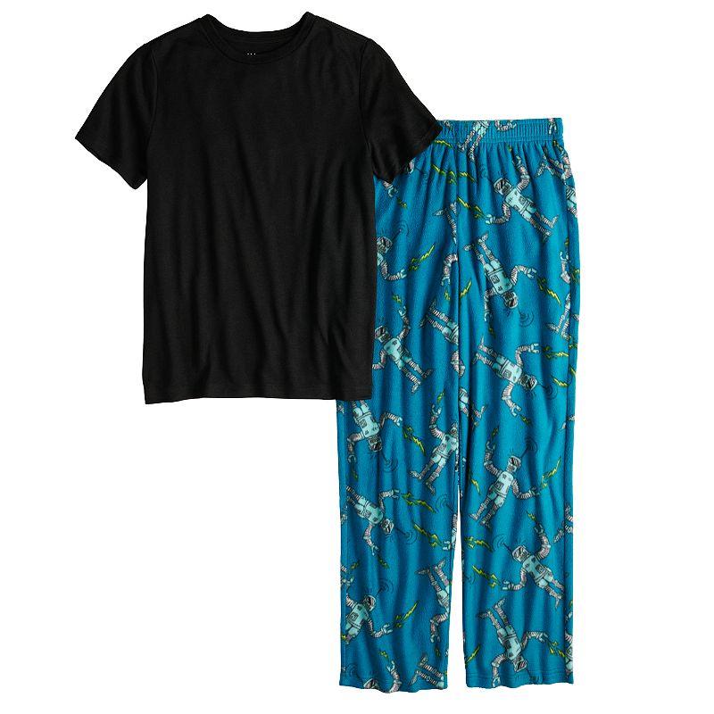 Boys 4-20 Urban Pipeline Tee & Bottoms Pajama Set in Regular & Husky, Boy's, Size: Large, Turquoise/Blue