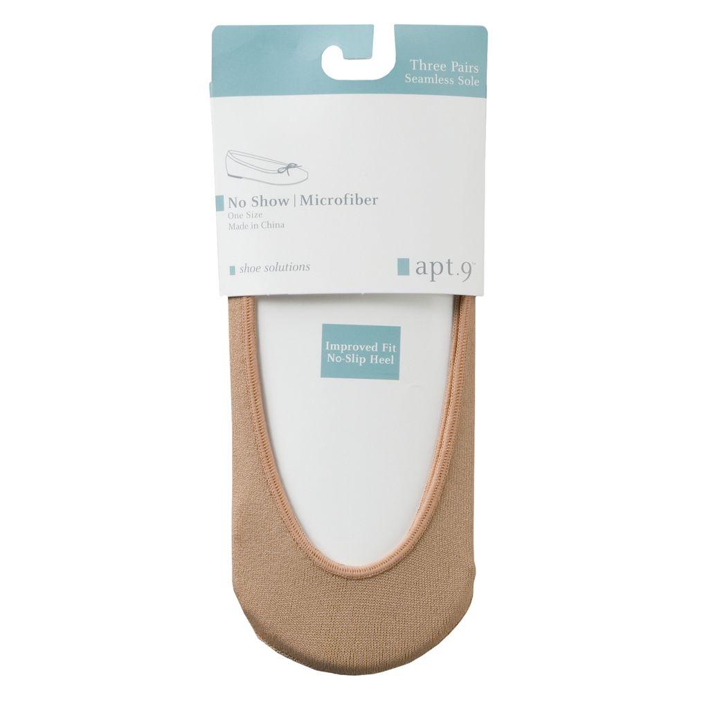 Apt. 9® 3-pk. Microfiber Liner Socks