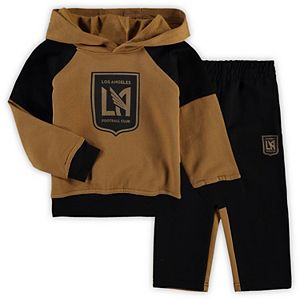 Toddler Gold/Black LAFC Sideline Fleece Pullover Hoodie and Pants Set