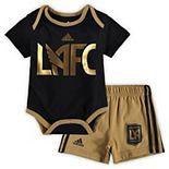 Newborn Black LAFC Bodysuit/Shorts Set