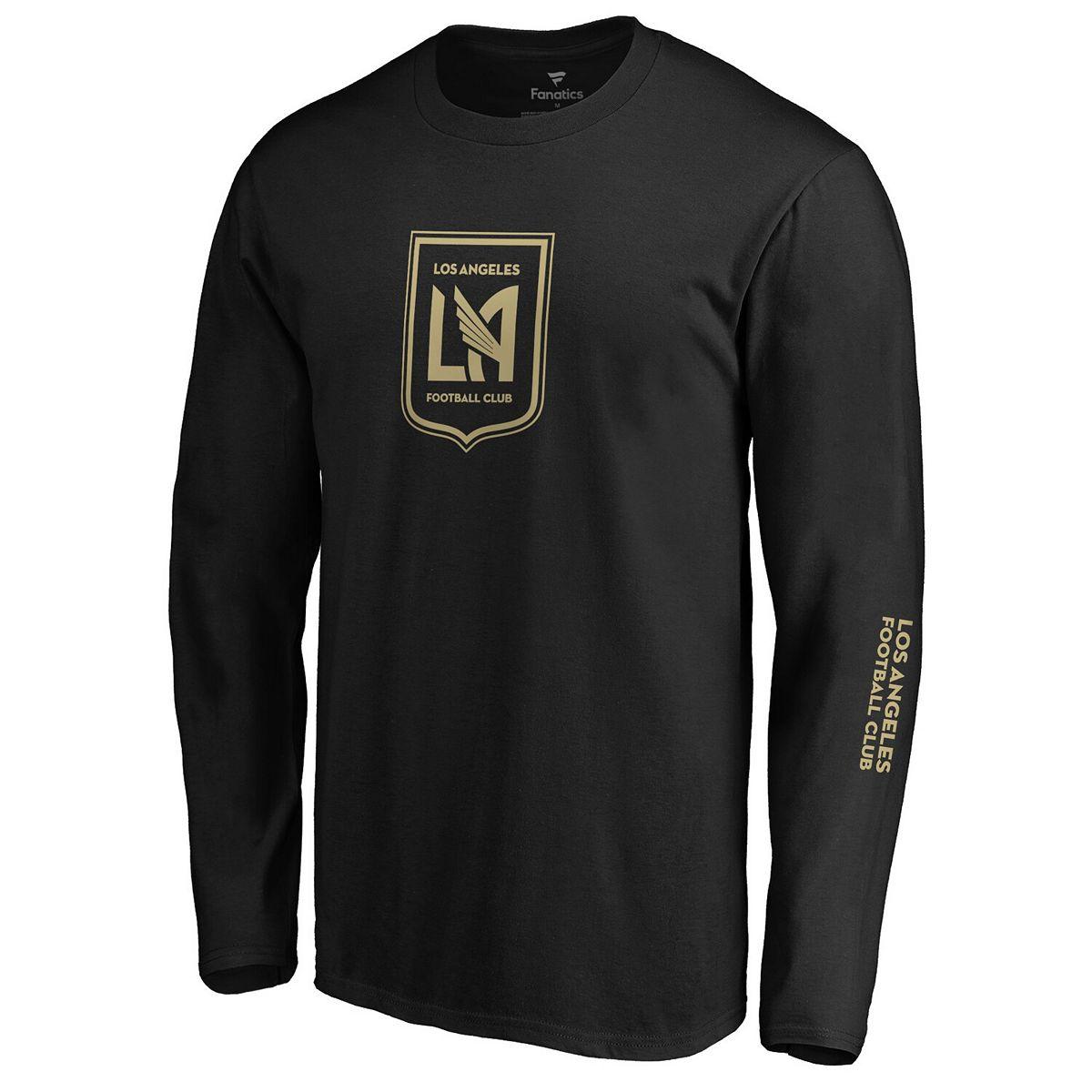 Men's Fanatics Branded Black LAFC Iconic Chase Down Long Sleeve T-Shirt UsfSL