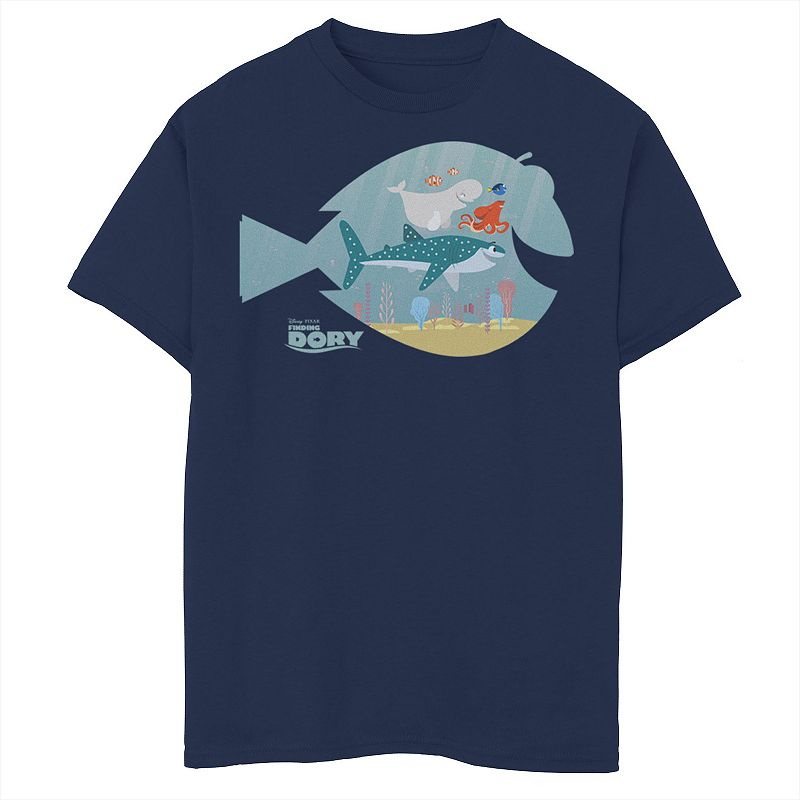 Disney / Pixar's Finding Dory Boys 8-20 Fish Frame Graphic Tee, Boy's, Size: Medium, Blue