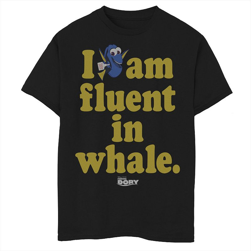 Disney / Pixar's Finding Dory Boys 8-20 Fluent In Whale Graphic Tee, Boy's, Size: Large, Black